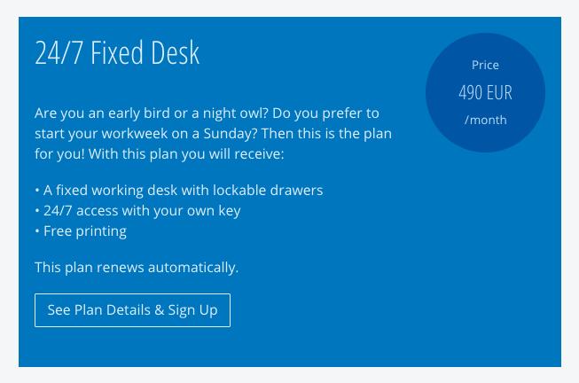 Fixed Desk Plan