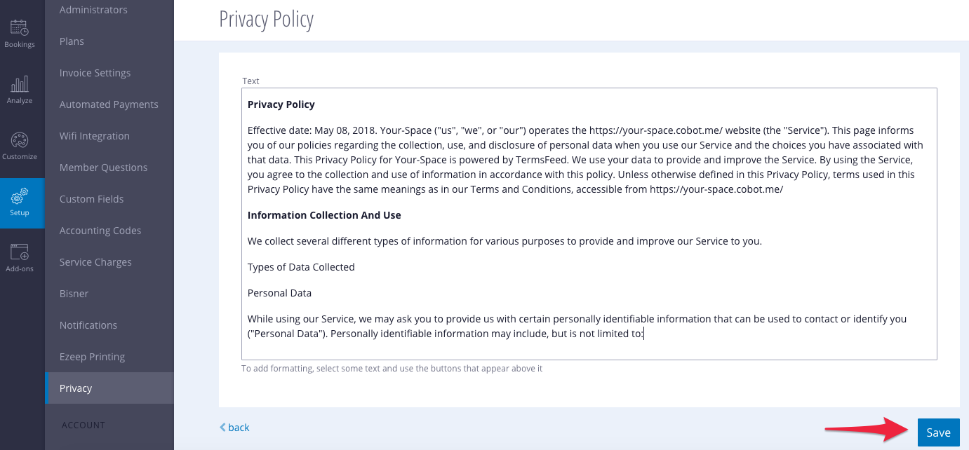 Upload Policy